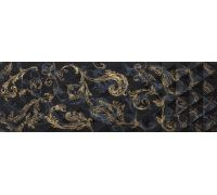 Декор Atlantic Diamante Decor Negro Gold 29.5*90