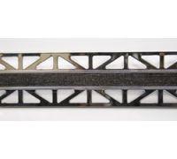 Профиль Butech Pro-Telo W Wenge Laton Cromado 15x12,5x2500 мм