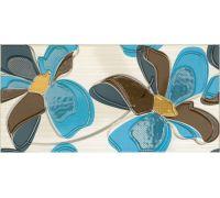 Декор Fanal Line Decorado Flor Azul 25*50