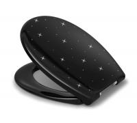 Крышка-сиденье Haro Como Swarovski Black для унитаза