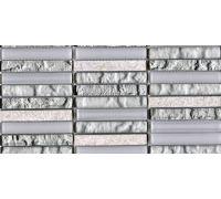 Мозаика L'Antic Colonial Mosaico Tecno Linear Silver-White G-517 29.6*29.6