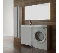Мебель Lotos 120 см с дверью для ванной комнаты, напольная, под стиральную машину