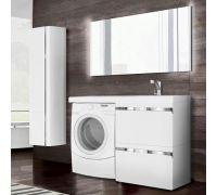 Мебель Lotos 120 см для ванной комнаты, подвесная, под стиральную машину