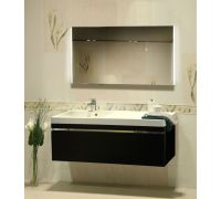 Мебель Lotos 130 см для ванной комнаты, подвесная