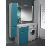 Мебель Lotos 130 см для ванной комнаты, напольная, под стиральную машину