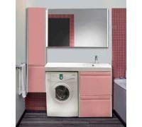 Мебель Lotos 130 см для ванной комнаты, подвесная, под стиральную машину
