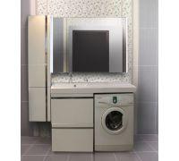Мебель Lotos 130 см для ванной комнаты, подвесная, нерж. сталь, под стиральную машину