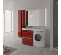 Мебель Lotos 130 см для ванной комнаты, напольная, нерж. сталь, под стиральную машину
