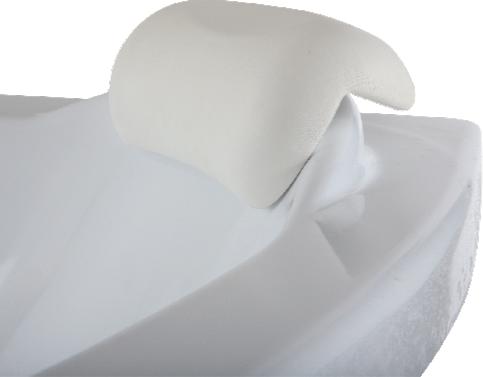 Подголовник Bas Дюна, белый для акриловой ванны
