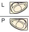Сторона расположения асимметричной акриловой ванны Vagnerplast - левая или правая