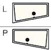 Вариант расположения асимметричной акриловой ванны Vagnerplast - левая или правая