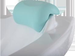 Подголовник Bas Дюна, зеленый для акриловой ванны