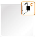 Прозрачное стекло с матовым узором (тип СP)