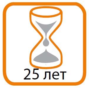 Срок эксплуатации: 25 лет