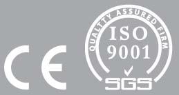 Продукция производится в соответствии с международным стандартом ISO-9001-2001 системы менеджмента качества. Соответствует европейскому стандарту качества