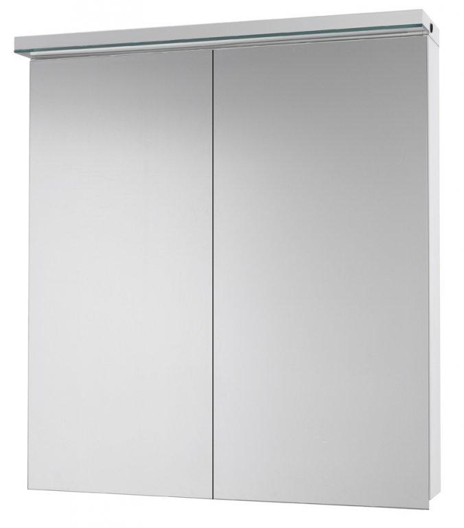 Зеркальный шкаф AIR 70 с LED-освещением зеркальный шкаф: (ш) 700 x (в) 820 x (г) 139 корпус: LTD - белый крашеный фасад: двухстороннее зеркало (дверки 40/30) зеркальный шкаф AIR 70 2D - 40/30 - 69271 с эл. розеткой, LED освещение мощностью 14Вт
