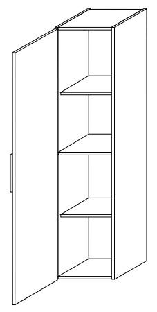 Пенал Gorenje Alano D 35.07, однодверный, 100 см