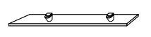 Стеклянная полка Gorenje Alano PO 60X15, 60 см