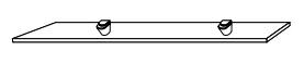 Стеклянная полка Gorenje Alano PO 80X15, 80 см