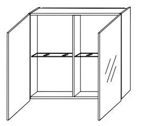 Зеркало-шкаф Gorenje Alano F 60.15 без подсветки