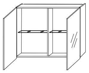 Зеркало-шкаф Gorenje Alano F 80.15 без подсветки