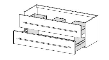 Тумба-умывальник Gorenje Avon F 120.60 - 120/50/45 см