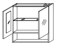 Зеркало-шкаф Gorenje Avon F 60.02 с подсветкой - 60/75/20 см