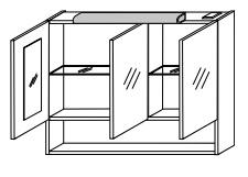 Зеркало-шкаф Gorenje Avon F 90.22 с подсветкой - 90/75/20 см
