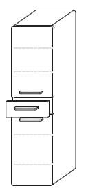 Пенал Gorenje City E 30.09 -  30/125/35 см