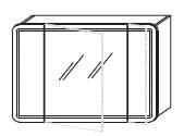 Зеркало-шкаф Gorenje City F 105.18 c LED подсветкой - 105/70/15 см