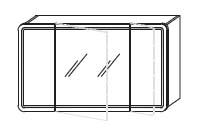 Зеркало-шкаф Gorenje Fantasia F 120.18 c LED подсветкой - 120/70/15 см
