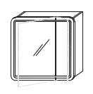 Зеркало-шкаф Gorenje City F 70.18 c LED подсветкой - 70/70/15 см