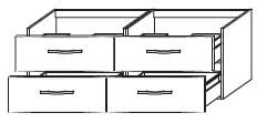 Тумба-умывальник Gorenje Fantasia F 140.87 - 140/50/45 см с раковиной UM 140.56