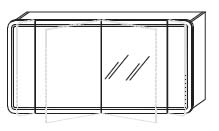 Зеркало-шкаф Gorenje Fantasia F 140.18 c LED подсветкой - 140/70/15 см