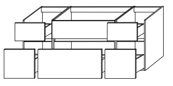 Тумба-умывальник Gorenje Fresh Karisma F 120.11 - 120/50/49.5 см с раковиной UM 121.110