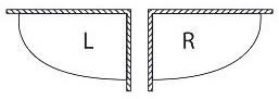 Вариант расположения асимметричной акриловой ванны Kolpa-San