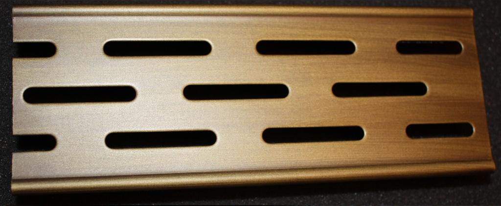 Решетка Aco для душевого канала - бронза, матовая