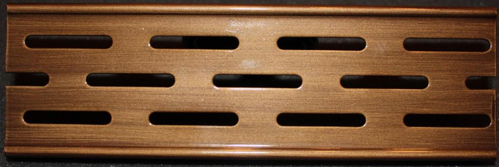 Решетка Aco для душевого канала - бронза, тасканская, глянец