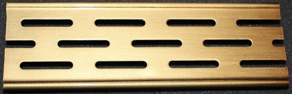 Решетка Aco для душевого канала - латунь, глянец