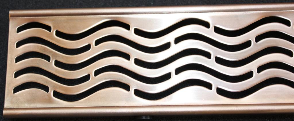 Решетка Aco для душевого канала - золото, розовое