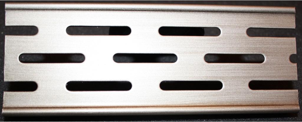Решетка Aco для душевого канала - серебро, состаренное, матовое