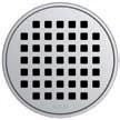 Круглая решетка Aco Квадрат для душевого трапа Aco Easy Flow