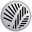 Круглая решетка Aco Пальма для душевого трапа Aco Easy Flow