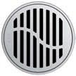 Круглая решетка Aco Волна для душевого трапа Aco Easy Flow