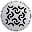 Круглая решетка Aco Завиток для душевого трапа Aco Easy Flow