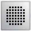 Квадратная решетка Aco Квадрат с замком или без для душевого трапа Aco Easy Flow