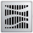 Квадратная решетка Aco Лес с замком или без для душевого трапа Aco Easy Flow