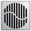 Квадратная решетка Aco Волна с замком или без для душевого трапа Aco Easy Flow