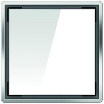 Стеклянная решетка Aco Белая для душевого трапа Easy Flow