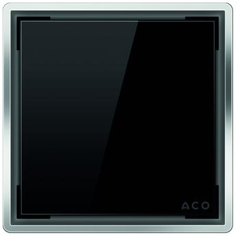 Стеклянная решетка Aco Черная для душевого трапа Easy Flow